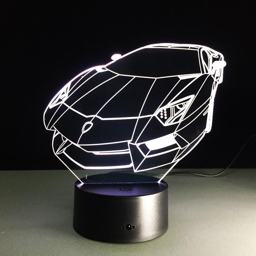 2018 3d color night light sports car auto 3d hologram home 2018 3d color night light sports car auto 3d hologram home illumination bedroom decor desk table lamp best gift for auto machine fan from hogon mozeypictures Choice Image