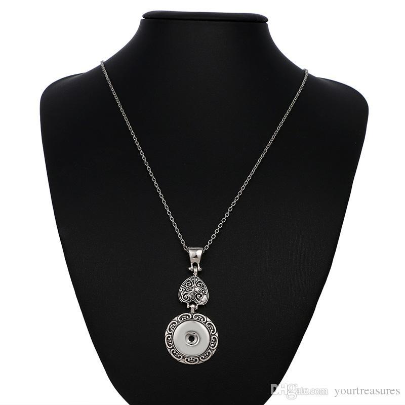 de Cristal Cruz 18mm Snap Colares Mulher colares Do Vintage pingentes femininos DIY jóias Colar Cruz