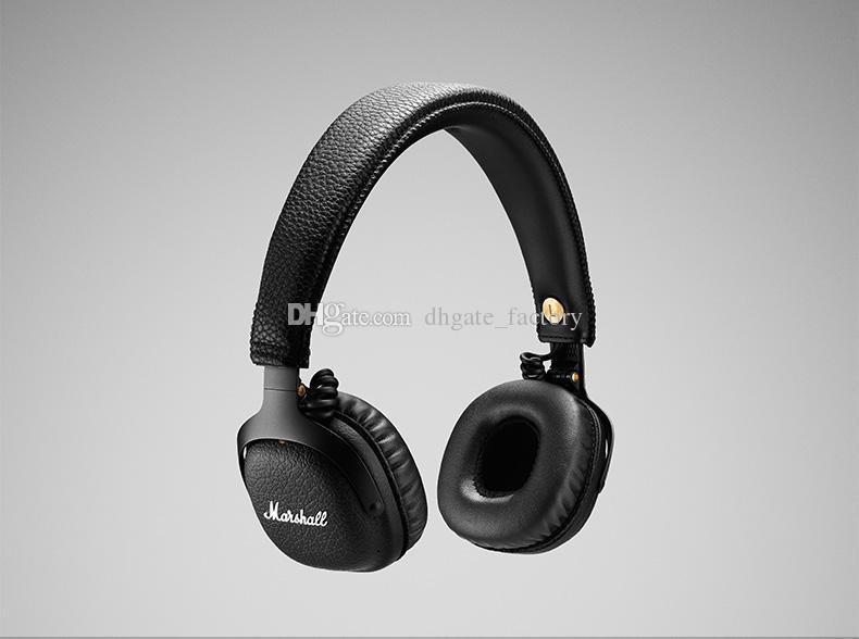 Marshall MID Bluetooth Wireless Headphones With Mic DJ Headphone Deep Bass Headset Earphone for iPhone X 8 Samsung Note8 S9+ Cell Phone