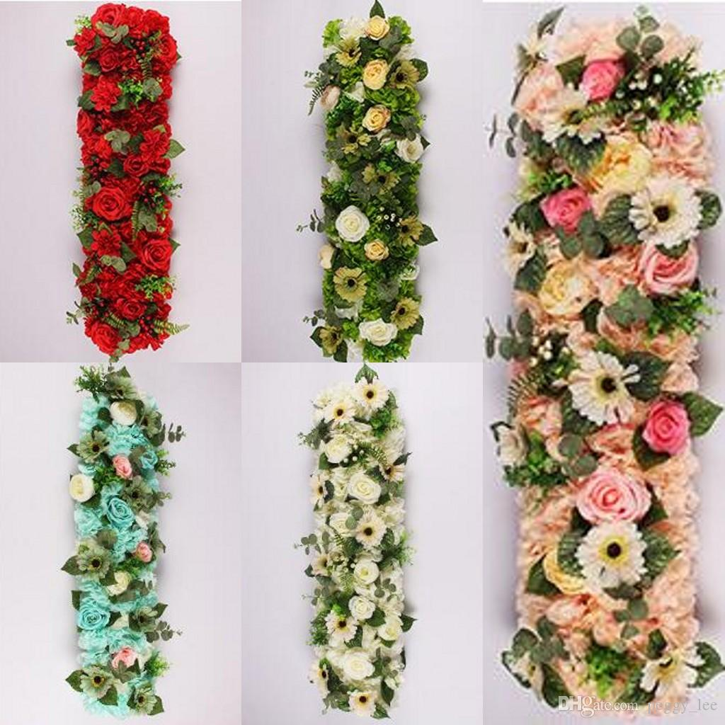 Flower Wedding Road Lead Flowers Long Table Centerpieces Flower Arch ...