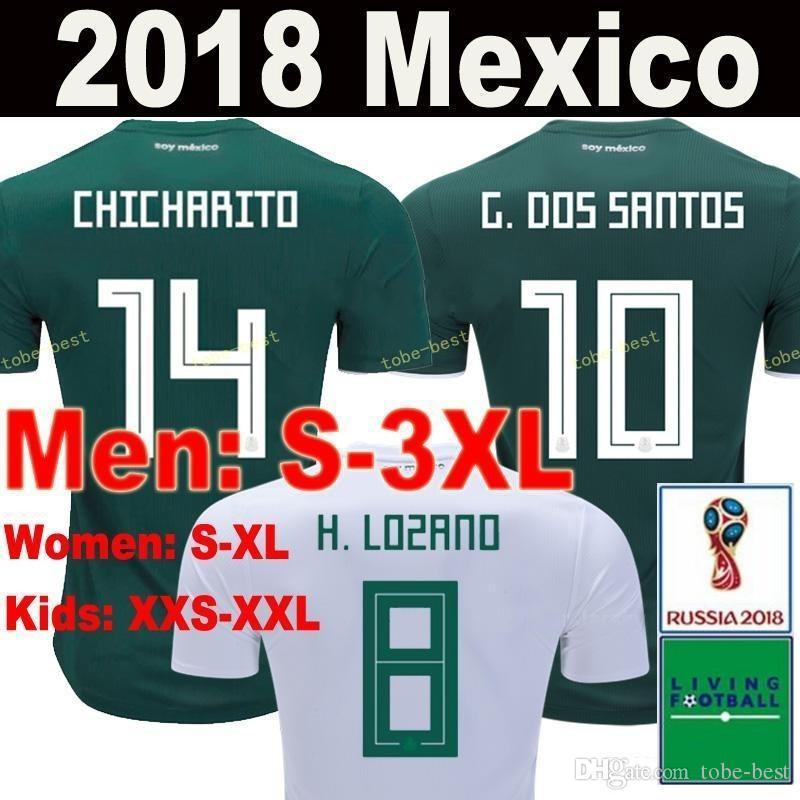 2018 Thailand MEXICO SOCCER JERSEYS 2018 World Cup CHICHARITO LOZANO DOS  SANTOS LAYUN Mexico Football Kit Shirt Camisetas De Futbol S 3XL From Tobe  Best 0dd2be883