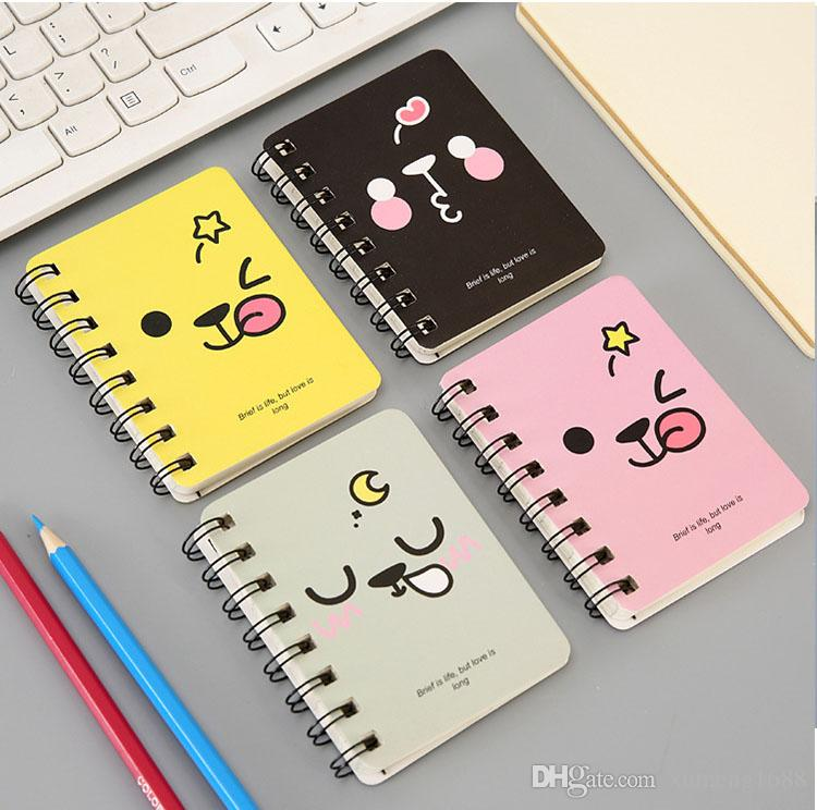 Small Size Loose-leaf Notebook Notepad Diary Journal Student Notes Memo - Cartoon Kawaii Schedule Agenda Stationery Office School Supplies