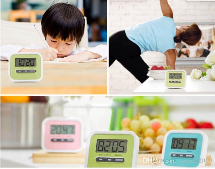 Christmas Gift Digital Kitchen Count Down/ Up LCD display Timer /clock Alarm with magnet stand clip SN236