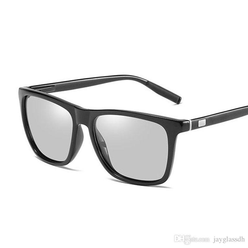 6c680f688f Compre Diseñador De La Marca De Gafas De Sol Fotocromáticas Hombres Polarizados  Gafas De Camaleón Cambio De Color Gafas De Sol HD Día De Visión Nocturna ...