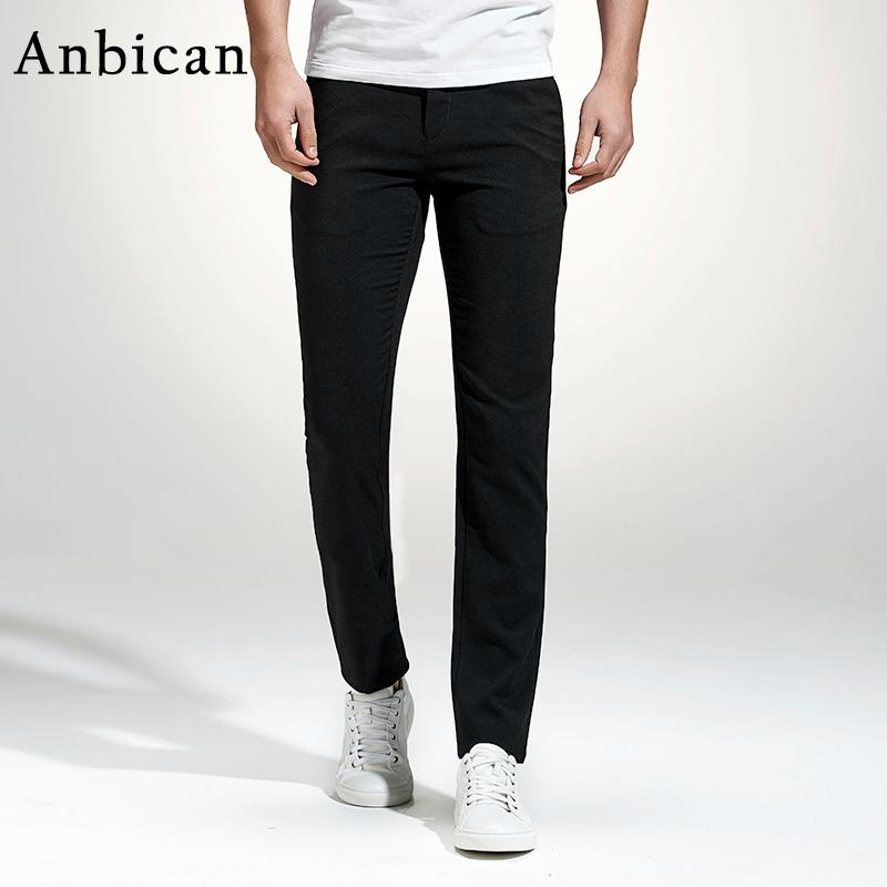2a7bfb83131 2019 Anbican 2017 Fashion Black Casual Pants Men Spring And Summer Straight  Pockets Chino Pants Full Length Slim Fit Mens Dress From Xisibeauty