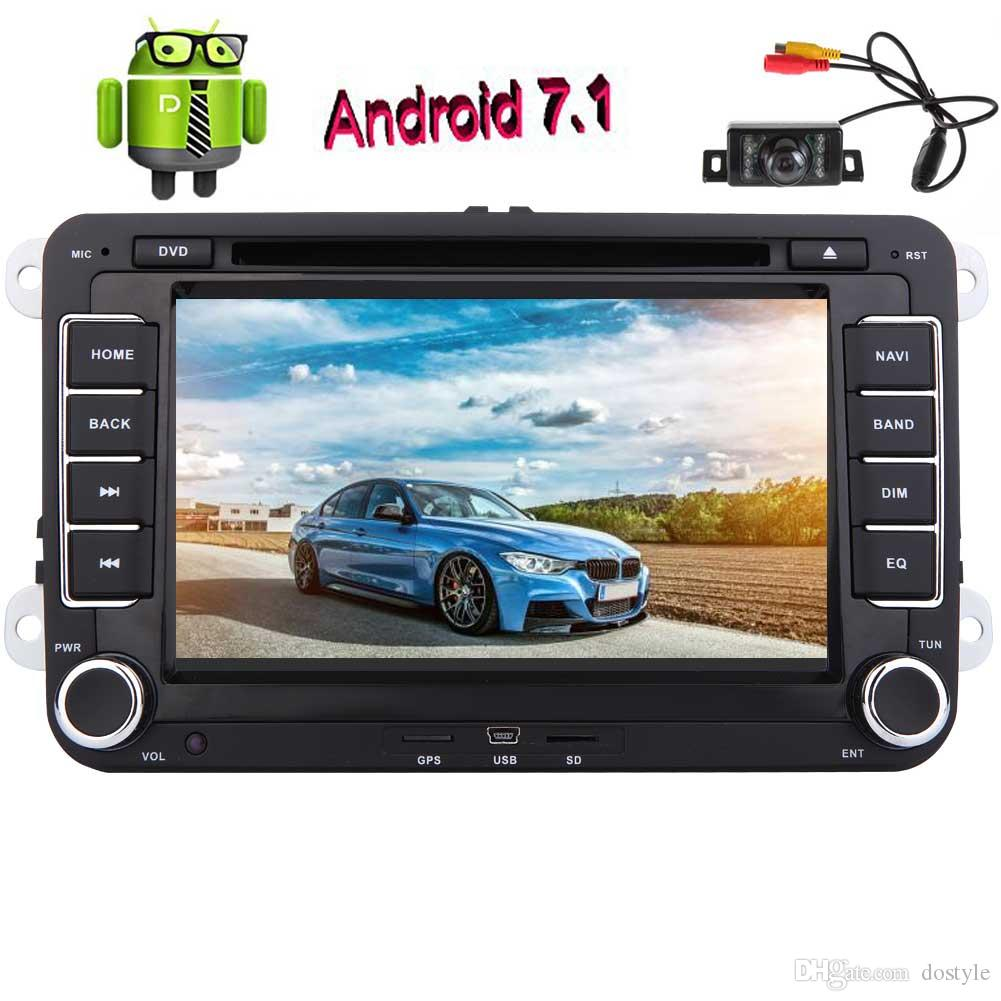 Android 7.1 Car DVD Player 7'' GPS Car dvd Stereo Navigation Double Din Headunit Radio Receiver Bluetooth/Mirrorlink/WiFi/OBD2/1080P+camera