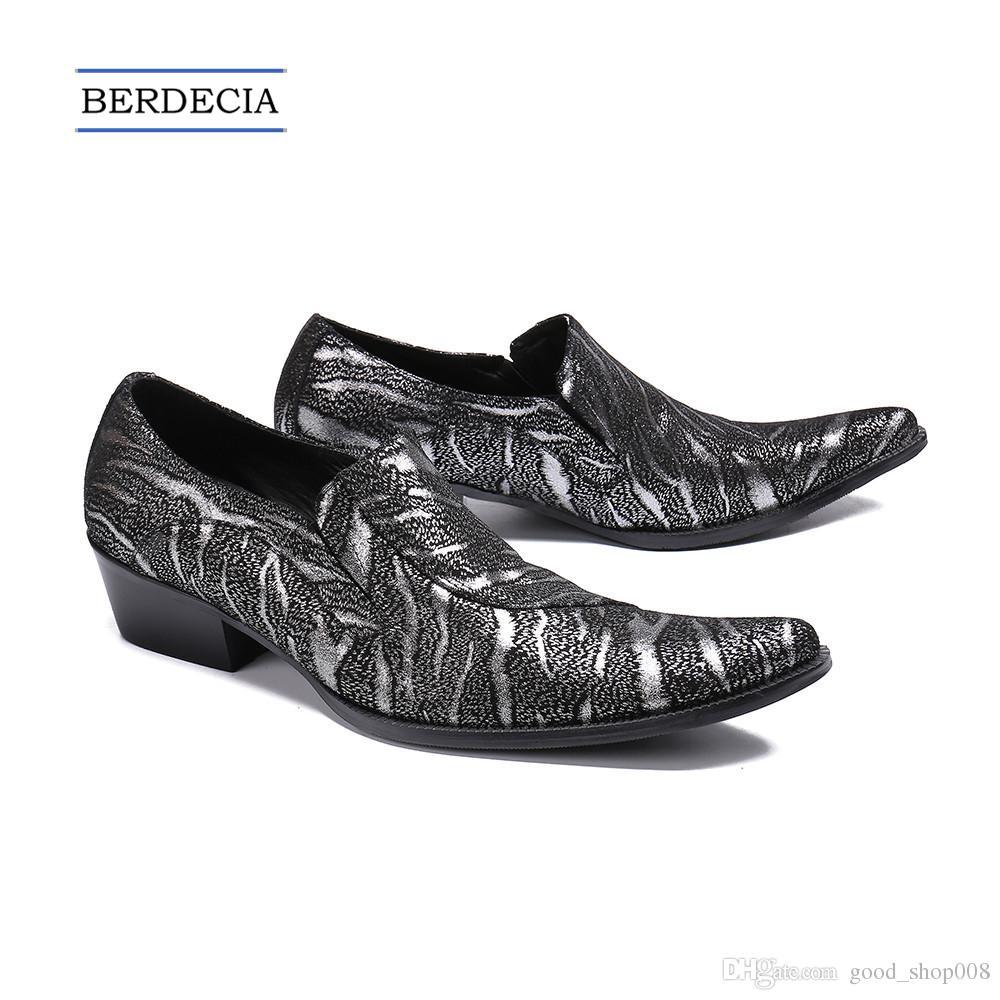 aaf52ab2ad Compre 2018 Luxo Novo Italiano Sapatos De Couro Genuíno Dos Homens Banquete  De Casamento Sapatos De Vestido Formal Tamanho Grande Sapatos De Negócios  ...