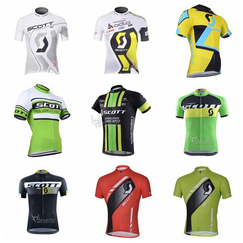 SCOTT Team Cycling Short Sleeves Jersey 2018 The New Men Summer ... 640bda3fa