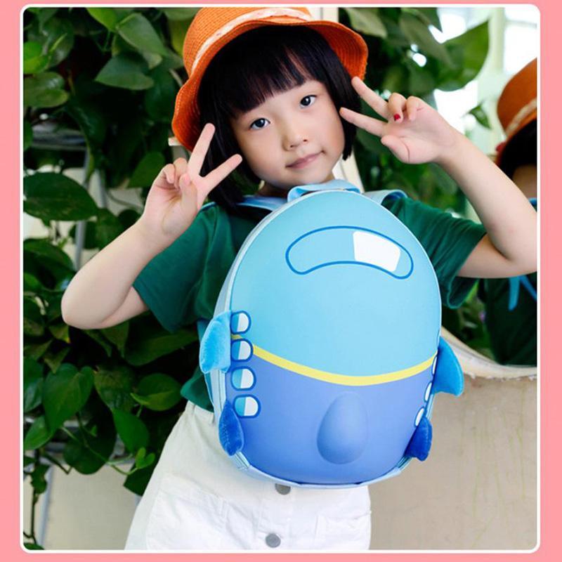 Baby Girls School Bag Kids Cute Airplane Cartoon Eggshell children school bags Toddler School Bagpack Mochilas Escolares#LREO