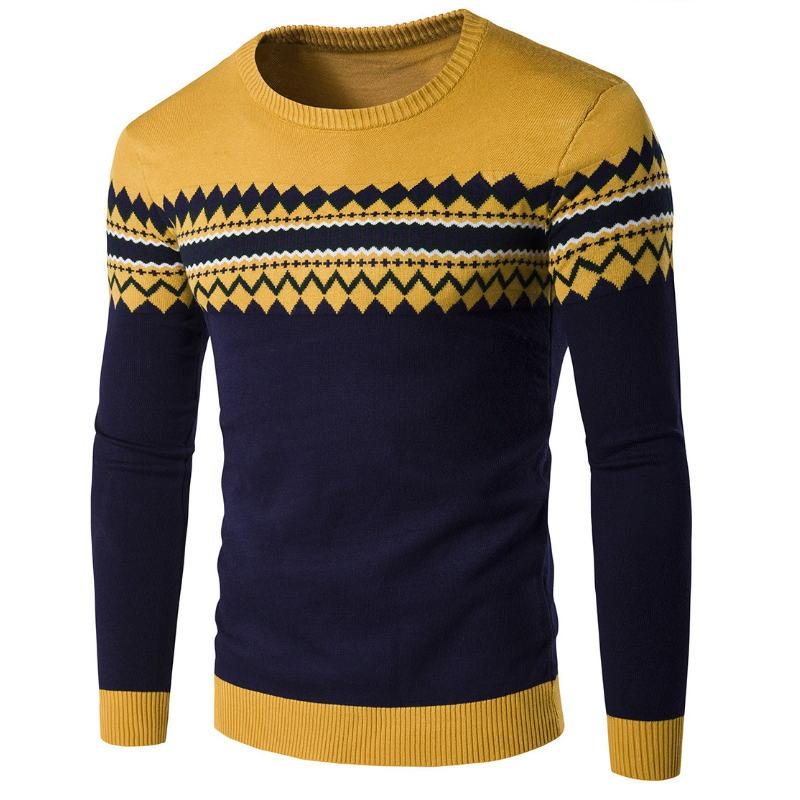 ecb8215e78 2019 2018 New Autumn Winter Round Neck Pullover Men Slim Fit Knitted  Sweater Pull Homme Jersey Hombre Mens Sweaters Fall Knitwear From Tt2015