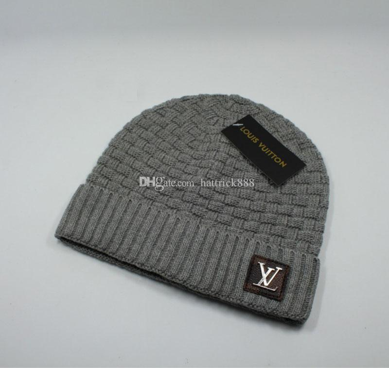 Newest Unisex L Letter Trendy Hats Winter Knitted Woolen Beanie Label  Luxury Cable Slouchy Caps Leisure Beanies Outdoor Caps L 20 127 Baseball Cap  Slouchy ... b5bcf1d9030