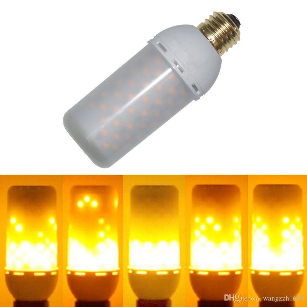 Meegan Flame001 Led Decorative Lights Flicker Flame Light Bulb Creative Fire Effect Lamp 85v 265v Pack Of 1 Unit A19