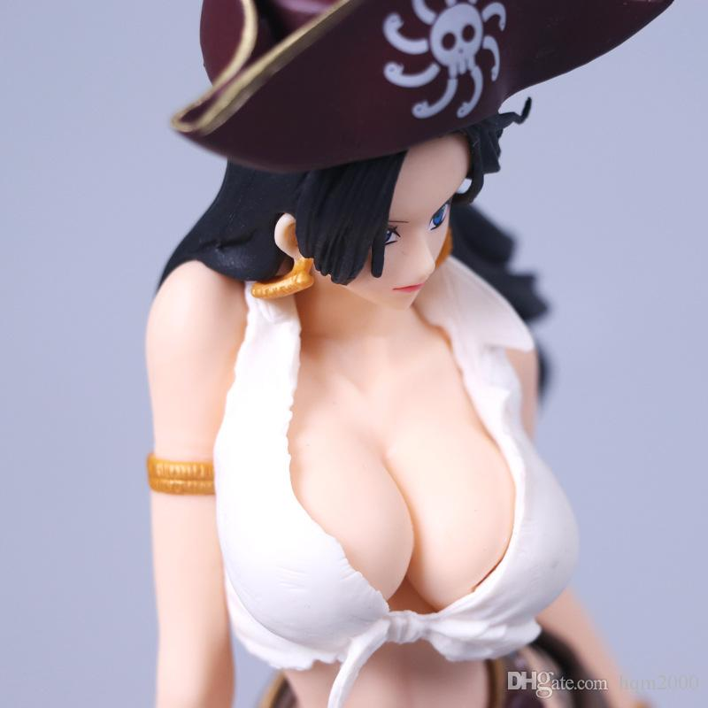 No Box 23cm Anime One Piece OP Pirates of the Caribb Boa Hancock Sexy Action Figure Toy Doll Collectible Model Decoration Ornament Gift