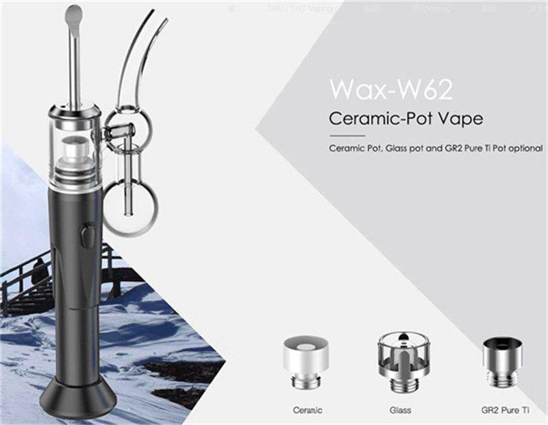 Authentic CPENAIL 1100mah Portable Wax Pen Dab Rig Nail Ceramic Quartz Electric H Nail GR2 Ti 3type coils e cigs Vaporizer Glass bongs