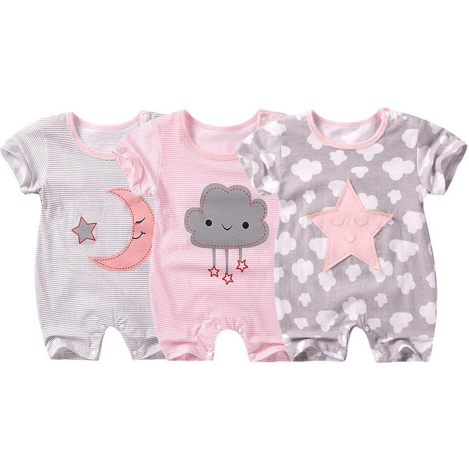 4bee67b76 Summer New Style Baby Rompers Short Sleeve Newborn Infant Baby Boy Girl  Clothes Cute Cartoon Printed Jumpsuit Climbing Clothes Clothing Sets Baby  Clothes ...