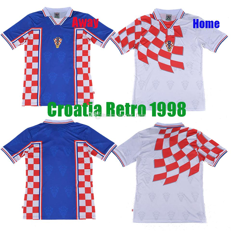 94759a1b182 2019 Retro 1998 Vintage MODRIC Suker BILIC BOBAN National Futbol Team Soccer  Jerseys World Cup Croatiaes Mexico Limited Edition Football Shirts From ...