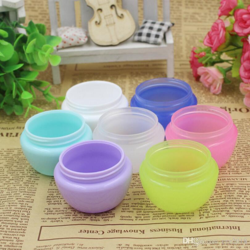Plastic Cream Jar Box Cases 5ml Capacity Wax Holder Container Food Grade Tools Storage Dabbers For Silicone Pipes LX1132