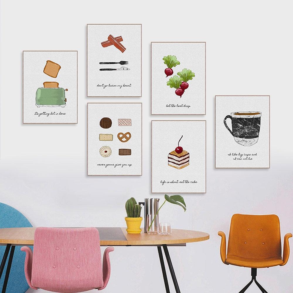 Großhandel Nordischen Stil Leinwand Poster Geschirr Gemüse Kekse ...