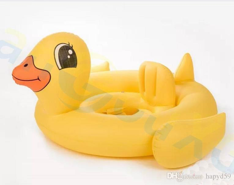 child Swimming Float baby Seat Inflatable yellow duck Pool Float Summer Water Pool Toy Kids Swimming ring swim circles Lifebuoy