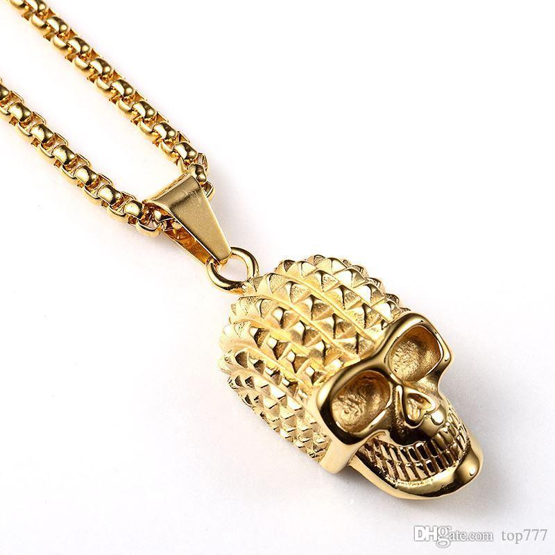 Wholesale 2018 Pendant Necklace Trendy Cool Skull Fashion Skeleton ...