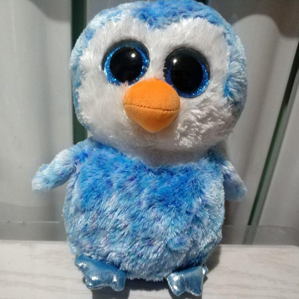 2019 25CM ICE CUBE PENGUIN TY BEANIE BOOS BIG EYE BLUE Penguin Stuffed  Animals KIDS TOYS VALENTINE GIFT From Askkit 7b9bdc419c2a