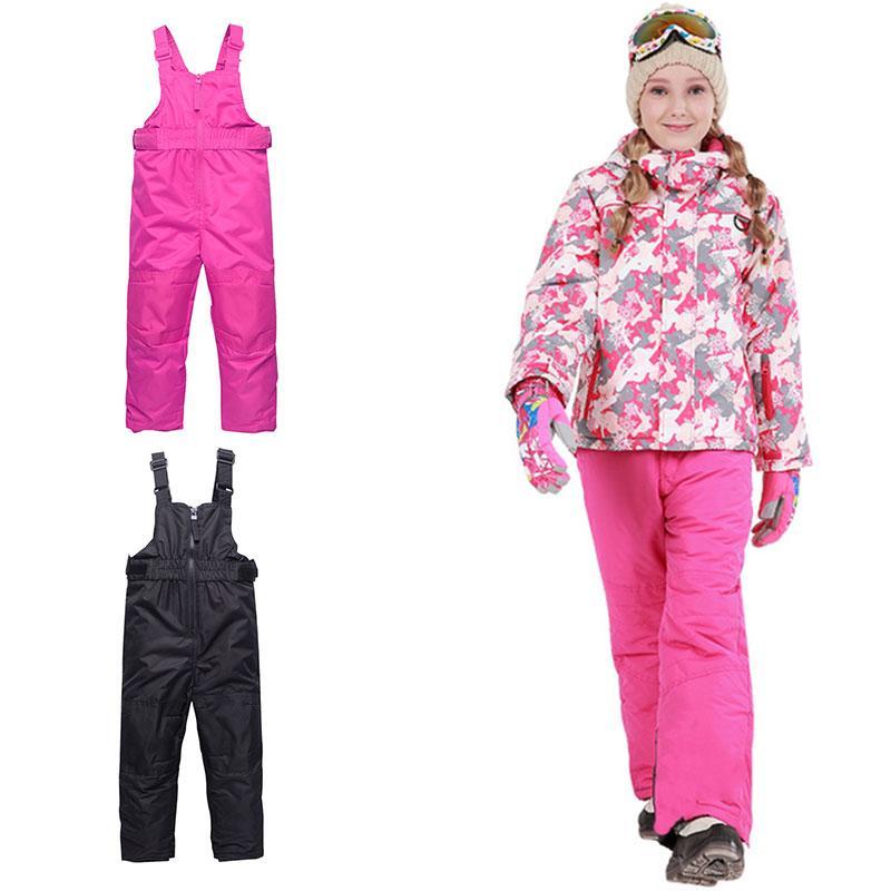 fb2cfd05 2018 New Unisex Children Ski Pants Outdoor Sports Kids Suspenders ...