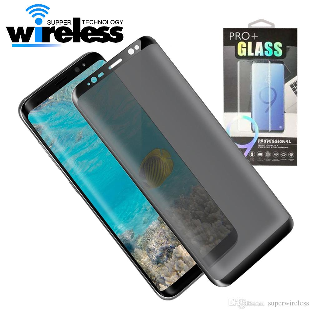 quality design 9d460 4756d For Galaxy S9 S9 Plus S8 Note8 Screen Protector Privacy Tempered Glass Anti  Glare HD Privacy Screen Protector Film
