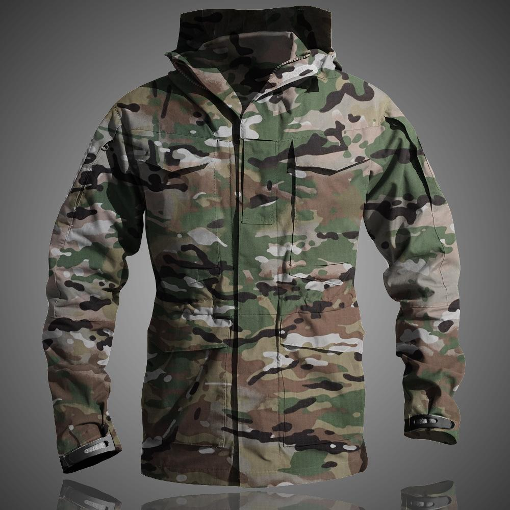M65 UK US Army Casual Clothes Tactical Windbreaker Men Winter Waterproof Hoodie Pilot Coat Military Field Camouflage Jacket