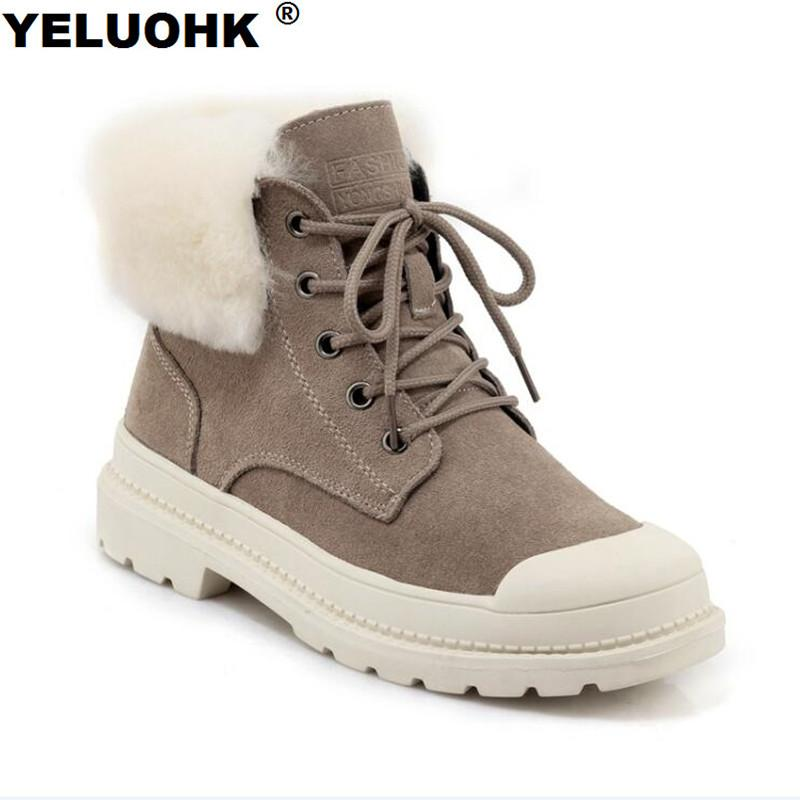 Brand New Winter Boots Women Shoes Suede Leather Ankle Boots For