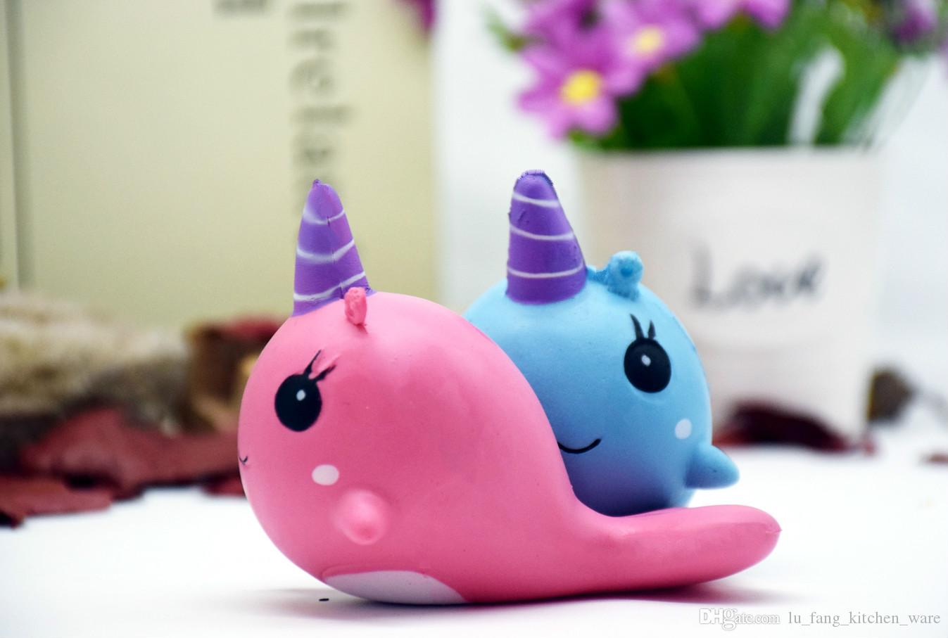 Decompression Toys Stress ball Cute PU Squishy Super Slow Rising Jumbo dolphin Squishy Squeeze Phone Strap Kids Fun Toy Gift 2018 in stock