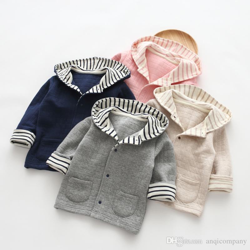 e0ef9ee1d16b Children Hoodie Baby Wear Long Sleeved Air Layer Children Coat ...