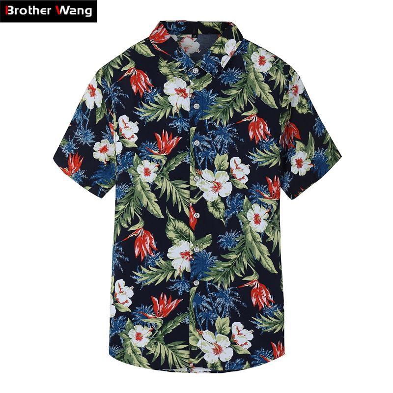fe27dae7 2018 Summer New Men's Short Sleeve Shirt Fashion Casual Hawaiian ...