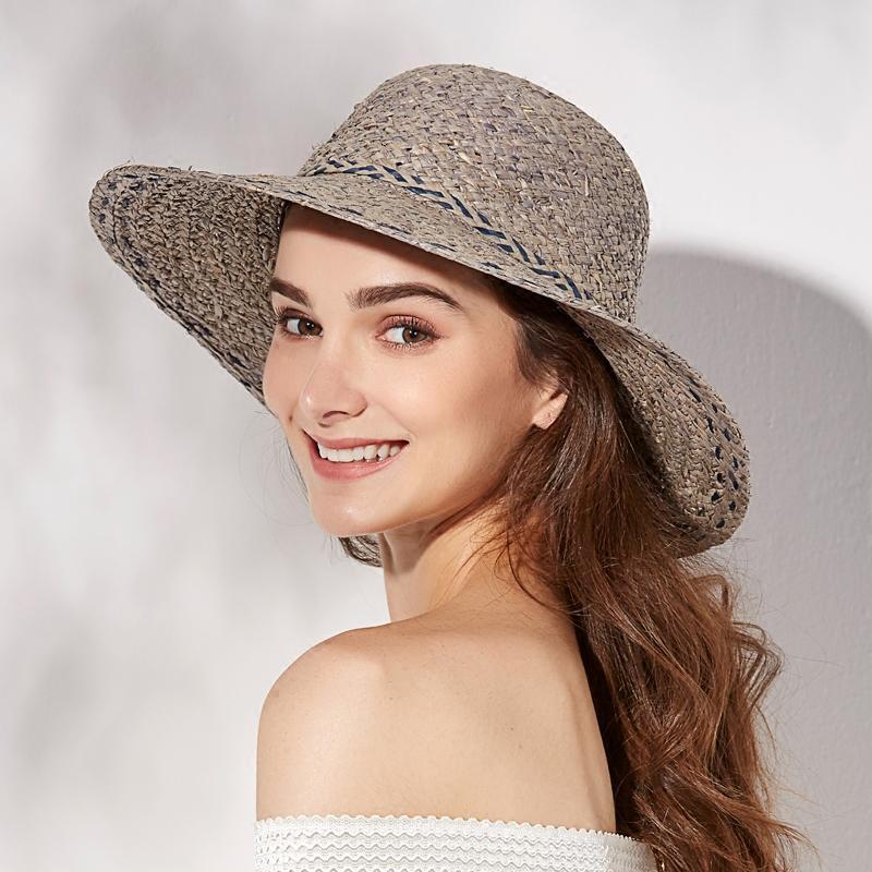 Compre 2018 Sombrero De Verano Sombrero Mujer Sombrero Grande Sombrero De  Paja Sombrilla Sombrero Para El Sol Estudiantes Sunbonnet Viaje Al Aire  Libre Sol ... 02236983a00