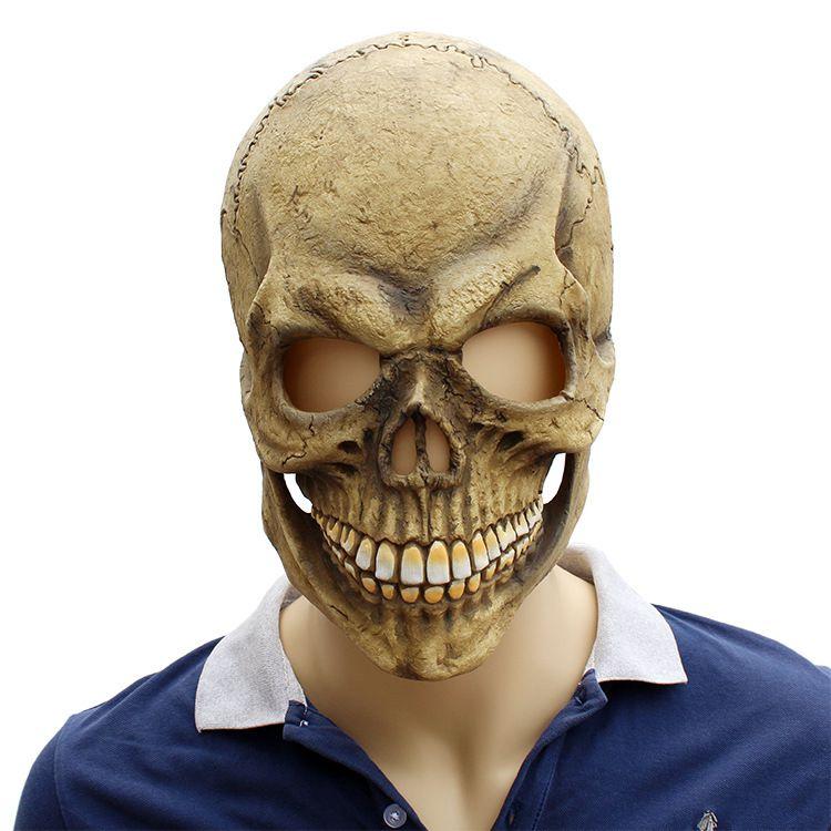 Nueva venta caliente de Halloween máscara de Airsoft Horror Scarry Látex Maskd Skull Zombie Headgear Máscara Broma Prop Ornamento Red Mascaras Disfraces