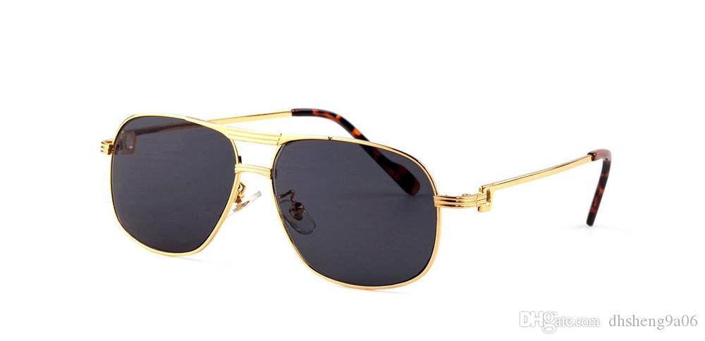 a6e5c903d0 Top Quality Pilot Eyes Goggle Designer Sunglasses Gold Frame Brand Buffalo  Horn Glasses Men Women Metal Sunglasses For Sale Cheap Sunglasses Mens  Sunglasses ...