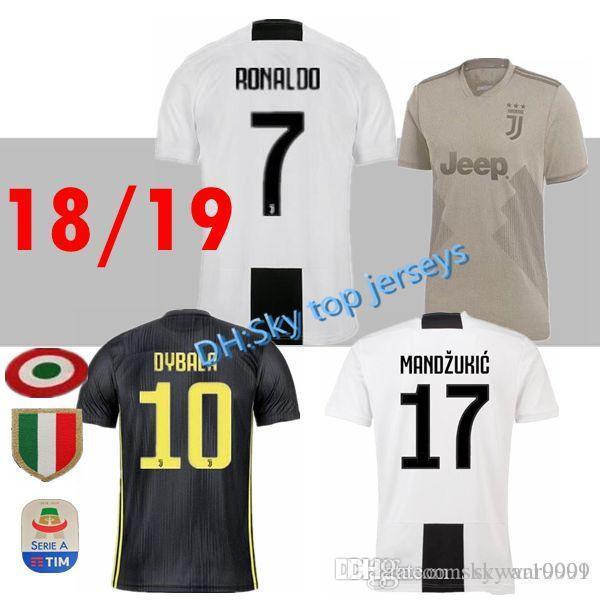 493f7eed4 TOP Thait 2018 2019 DYBALA  7 RONALDO Soccer Jersey Away 18 19 ...