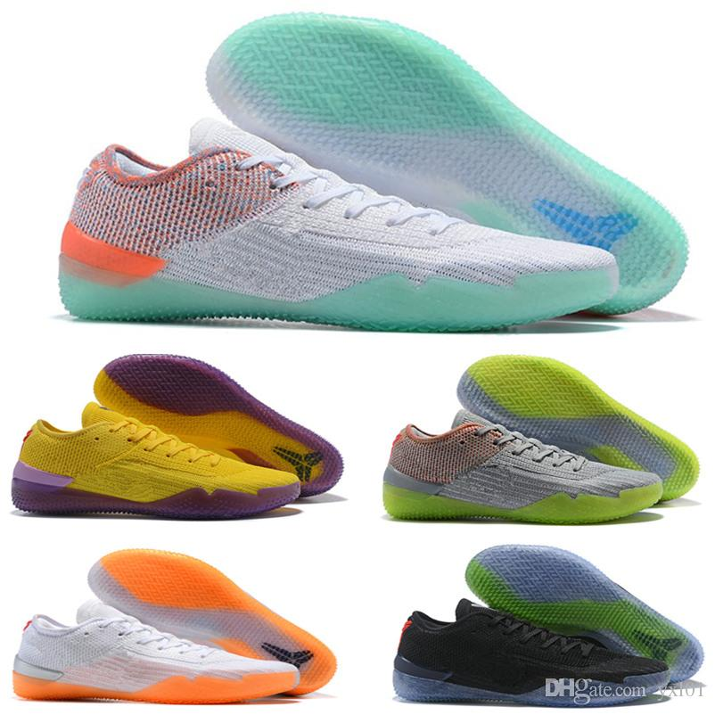 752f51ef31fb NEW 2019 Kobe 360 AD NXT Yellow Orange Strike Derozan Basketball Shoes  Cheap Slae Mens Trainers Wolf Grey Purple Sneakers Size 7 12 East Bay Shoes  Shoes ...