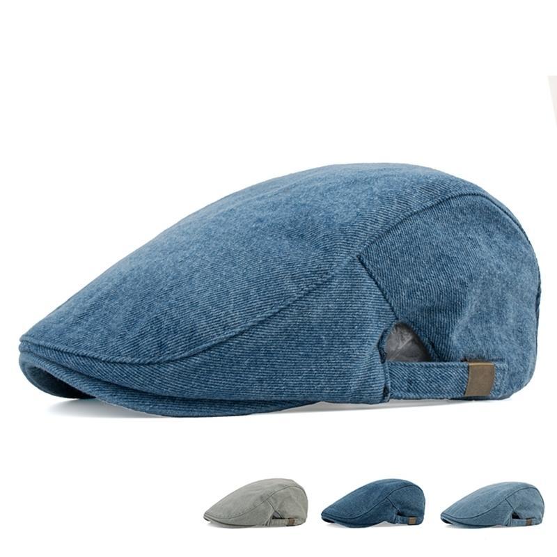 7912ff40526 2019 Male Outdoors Casual Sun Hat 100% Cotton Ivy Cap Restore Wash Old Denim  Beret Hat Men Popular Plain Newsboy Caps From Hongshaor