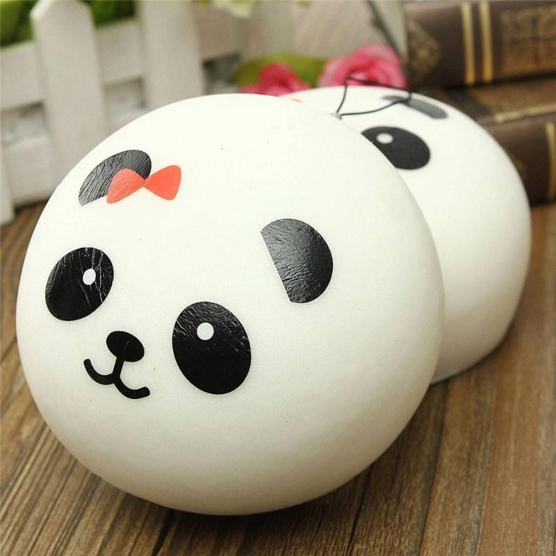 10cm Panda Squishy Charms Kawaii Buns Bread Cell Phone Key Bag Strap Pendant Squishes Mobile Phone Straps
