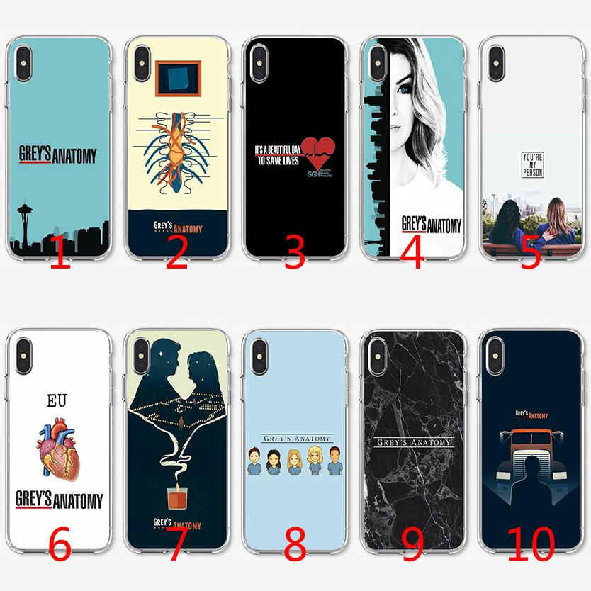 new concept 1899f 38cb0 Grey Anatomy TV Soft Silicone TPU Case for iPhone X XS Max XR 8 7 Plus 6 6s  Plus 5 5s SE Cover