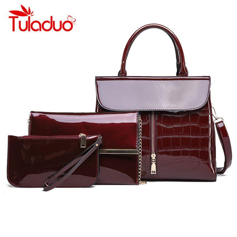 dee8b2dee06c  Pcs Crocodile Bags For Women 2018 Luxury Handbags Women Bags Designer  Zipper Messenger Bag Chain Purse Evening Clutch Flap Designer Purses  Satchel Bags ...