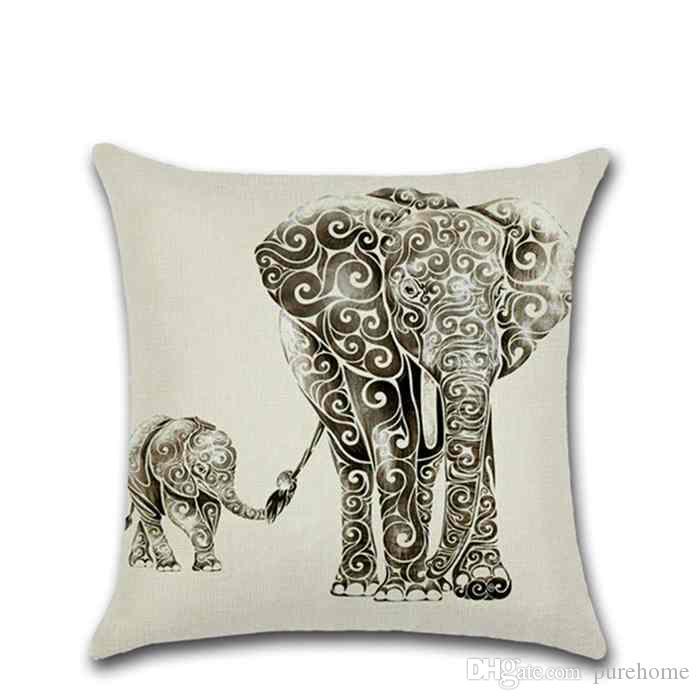 "Cartoon Animal Series Pillowcases Sofa Car Cushion Cover Square Linen Pillow Case Home Decor 18""X18"" Birthday Party Halloween Christmas"