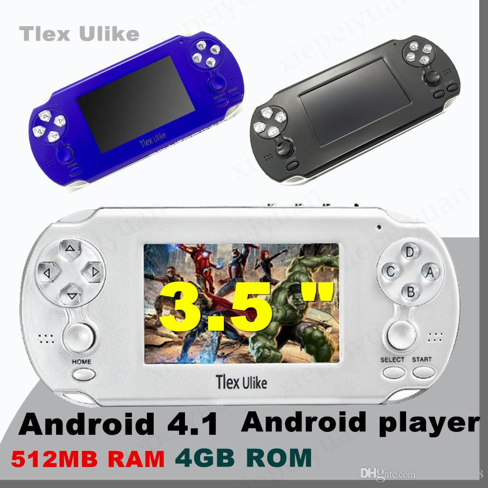 2PCS Tlex Ulike Android 512MB RAM 4GB ROM Handheld TV Game Console  Bluetooth Wifi HDMI Video Support MP4 MP5 NES FC SFC MD Android player