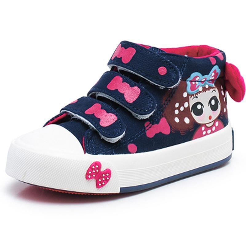 f6c37d8c7b207 Compre Moda Belleza Zapatos Para Niños Nuevos Zapatos Para Niñas 2018 Niñas  Princesa De Dibujos Animados Correr Zapatillas De Deporte Planas Para Niños  Para ...