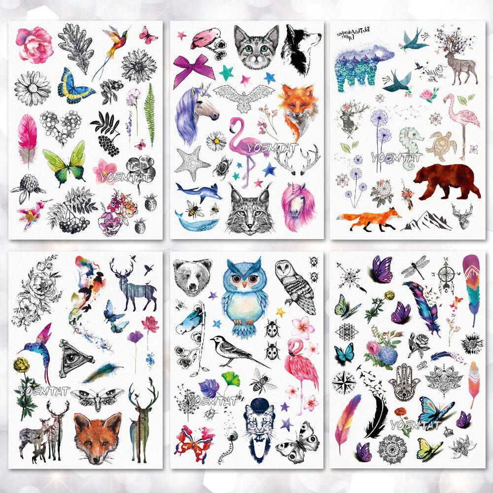 c88a5d9b7 Waterproof Temporary Tattoo Sticker Watercolor Cute Little Animal Pattern  Tattoo Water Transfer Body Art Fake Tattoo Custom Tattoo Designers Online  From ...