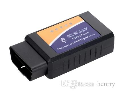 50 sztuk Bluetooth Elm 327 ELM327 BT OBD2 ELM 327 Can-Bus może pracować na kablu diagnostycznym samochodu Mobilelephone