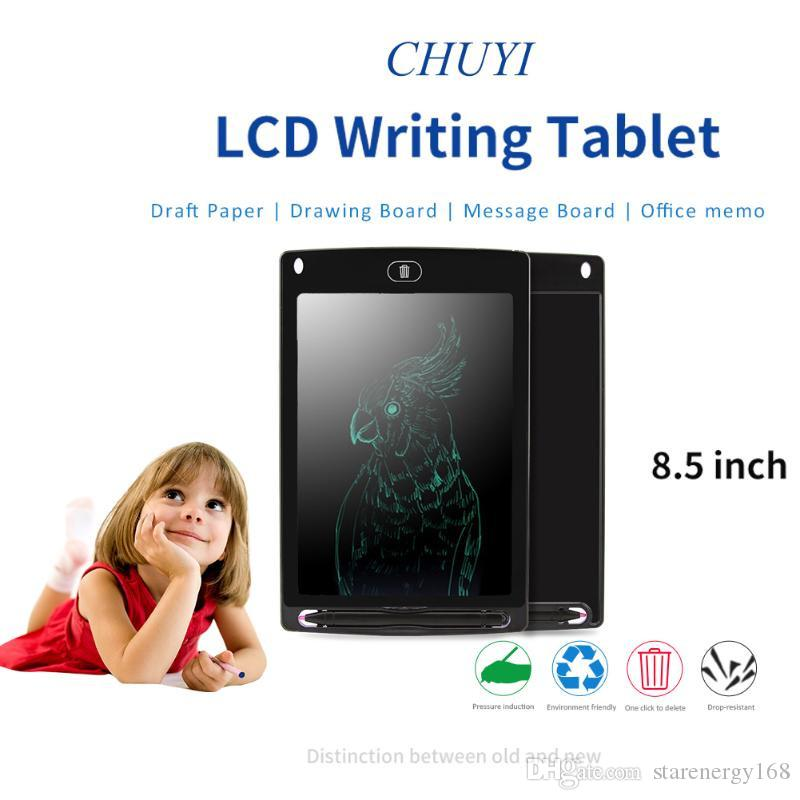 50168D 8.5 inch LCD Writing Tablet Memo Drawing Board Blackboard Handwriting Pads With Upgraded Pen for Kids Office One Butt Christmas gifts