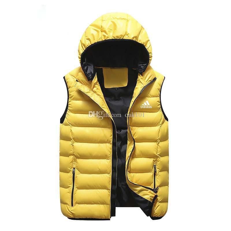 5c4e591e439 New Autumn Winter Hooded Vest Male And Female Outerwear & Coats ...