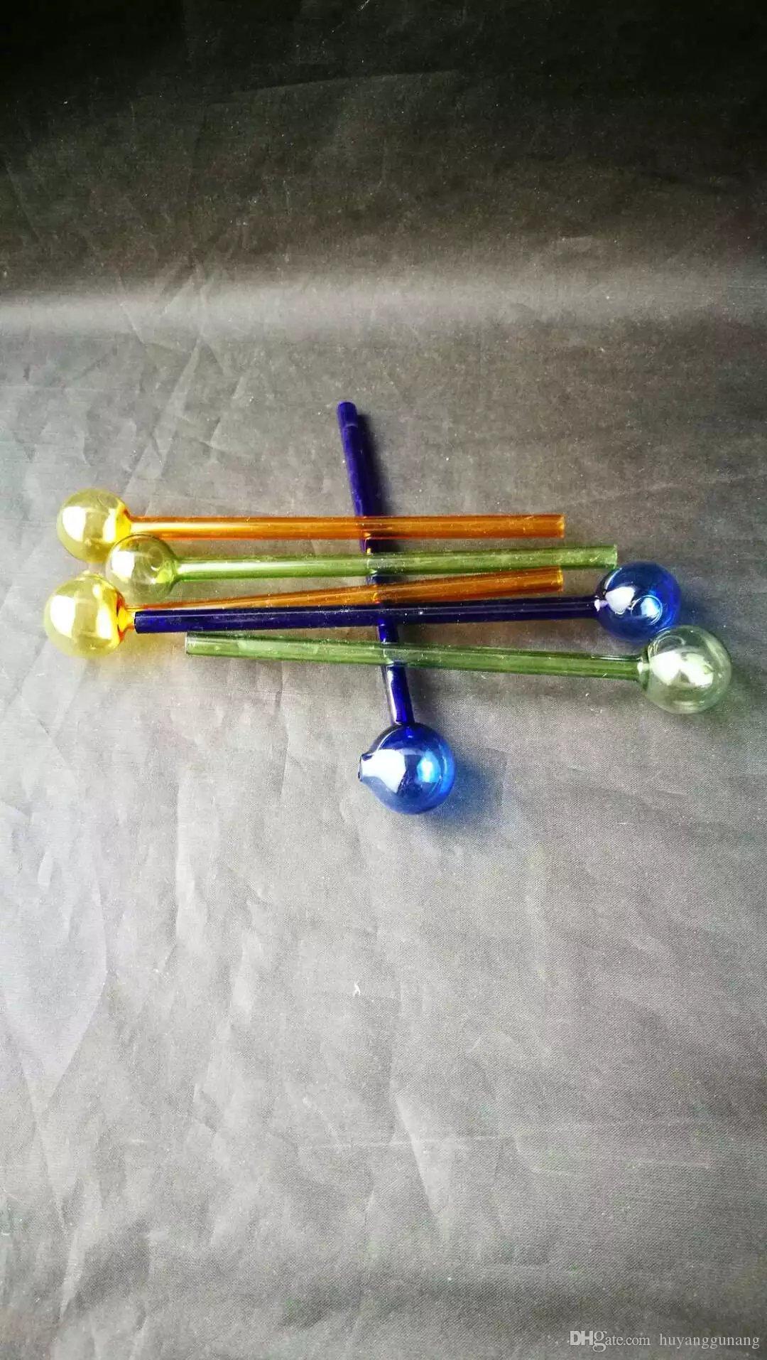 verre couleur pot droit bong gros brûleurs à mazout Tuyaux Les conduites d'eau en verre Oil Pipe Rigs Fumer, Livraison gratuite