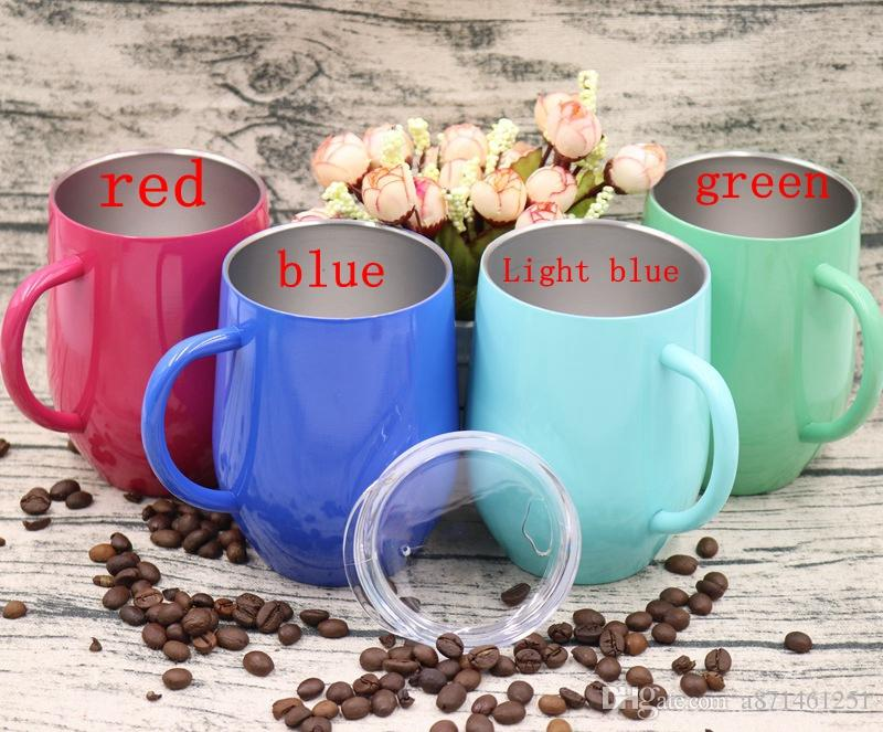 9oz Egg Cup wine glass With Handle Stainless Steel Cups Fashion Egg Shaped Wine Glasses Travel Beer Mugs Tumblers With handle